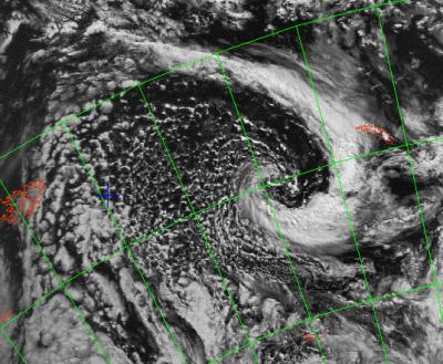 a low pressure system seen from the skyeye poes satellite
