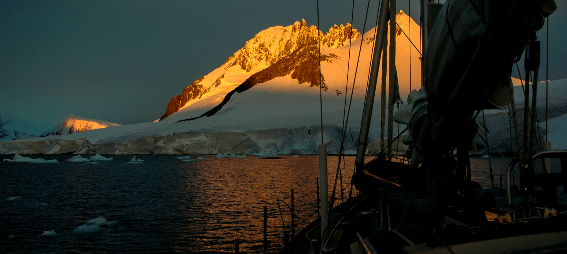 Expedition Yacht Seal sailing in Antarctica